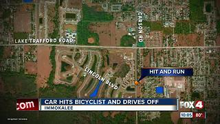 Hit-and-Run leaves Bicyclist Injured - Video