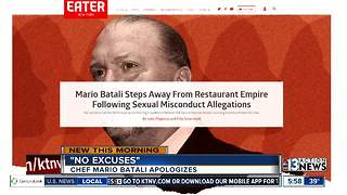 Chef Mario Batali apologizing for conduct - Video
