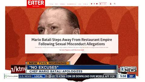 Chef Mario Batali apologizing for conduct