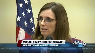 Arizona Rep. Martha McSally tells colleagues she'll run for Senate - Video