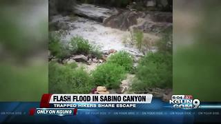 Hikers share how they escaped a flash flood in Sabino Canyon PART 2 - Video