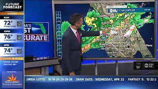 Tracking severe weather: Tornado Watch issued for Tampa Bay area counties until 11 a.m.