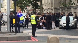 Video Shows Police Detaining Man After Car Collides With Pedestrians in London - Video