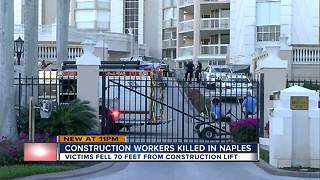 Two dead after falling 70 feet in elevator lift collapse in Naples - Video