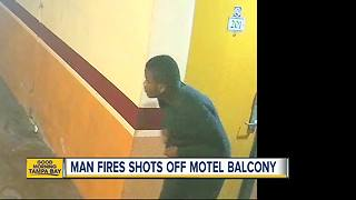 Man fires shots off motel balcony in Tampa - Video