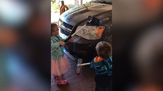 Funny Toddler Car Wash Fail