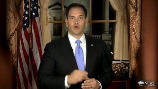 Marco Rubio Pauses Speech for Water Break - Video