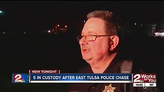 Police pursuit in Tulsa - Video