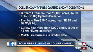 Collier County fires causing smokey conditions