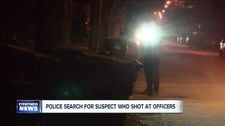 Buffalo police search for suspect who shot at officers overnight
