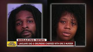 Lakeland father, girlfriend charged with murder of his 6-year-old daughter - Video