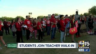 Teacher stage walk-ins across the Valley - Video