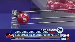 Powerball Jackpot climbs to $430 Million - Video