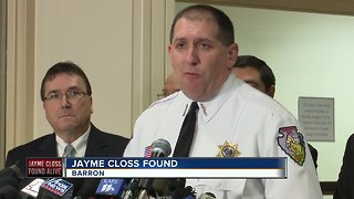 Authorities update Jayme Closs case after she's found alive