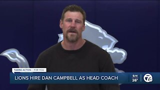 Lions hire Dan Campbell as head coach