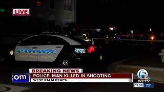 Man killed in West Palm Beach shooting Saturday night - Video
