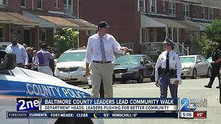 Baltimore County leaders lead community walk