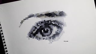 How to draw a realistic eye in pixel format - Video