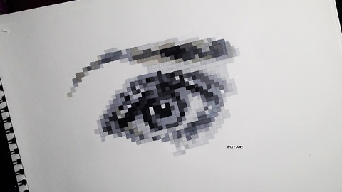 How to draw a realistic eye in pixel format