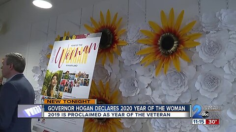 Maryland governor announces 2020 as the Year of the Woman
