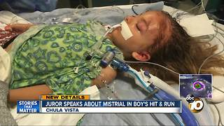 Juror speaks about mistrial in boy's hit and run - Video