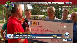 Day 3 of Steve Weagle's Ride for the Red Cross - Jupiter - Video