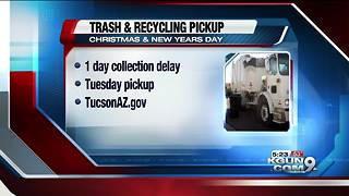 Delayed trash pickup during holidays - Video