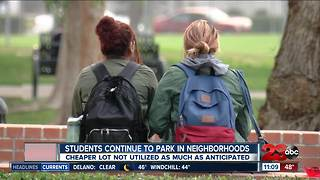 Bakersfield College students continue parking in neighborhoods despite parking changes - Video