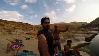 Camping and Cliff Diving in Beautiful Oman - Video