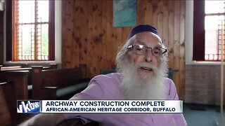 Construction on archway to mark African American Heritage Corridor Complete