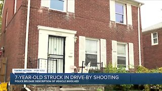 7-year-old struck in drive-by shooting in Detroit