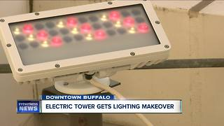 Electric Tower gets lighting makeover - Video