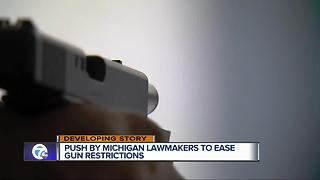Advocates pushing for fewer gun restrictions in Michigan - Video