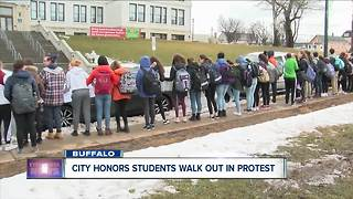 City Honors students walk out of school - Video