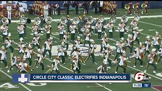 Circle City Classic parade and football game in Indianapolis - Video
