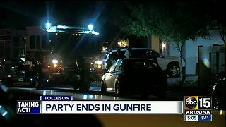 Tolleson party ends in gunfire - Video