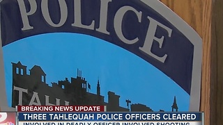 Three Tahlequah Police Officers cleared from the involved shooting - Video