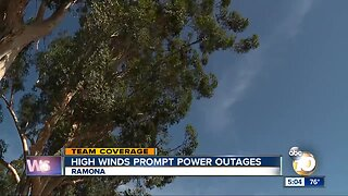 High winds prompt power outages