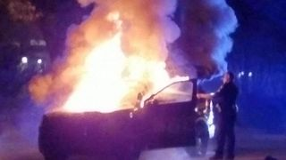 Police Car Set on Fire During Protests at Georgia Tech - Video