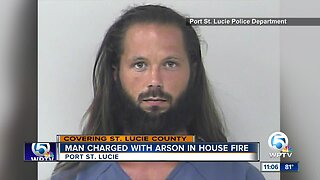 Man charged with arson in house fire