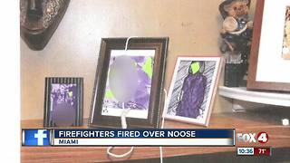 6 Florida firefighters fired for allegedly placing noose over black colleague's family photo - Video