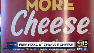 Get free pizza at Chuck-E-Cheese! - Video