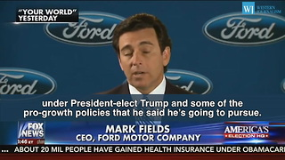 White House Takes Credit For Ford Expansion In Michigan - Video
