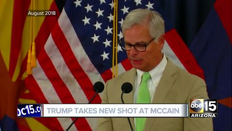 Video disproves Trump claim that McCain family never thanked him