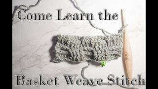 How to Crochet the Basket Weave Stitch