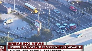 School bus involved in accident in Clearwater - Video