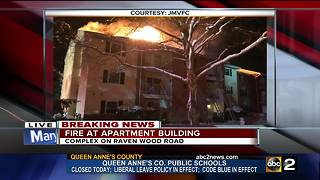 Several forced to evacuate after apartment fire - Video
