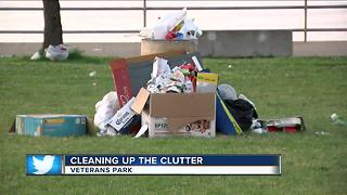 Cleaning up the clutter at the lakefront - Video