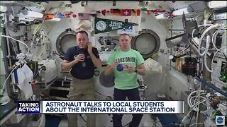 Oakland County students talk with astronauts onboard the International Space Station - Video