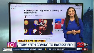 Toby Keith coming to Bakersfield